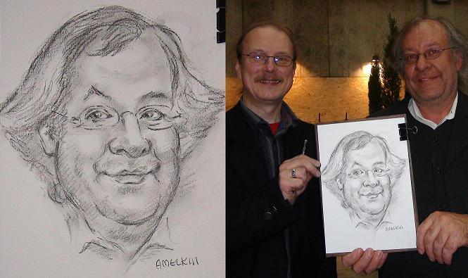 Schnellzeichner und Karikaturzeichner Amelkin