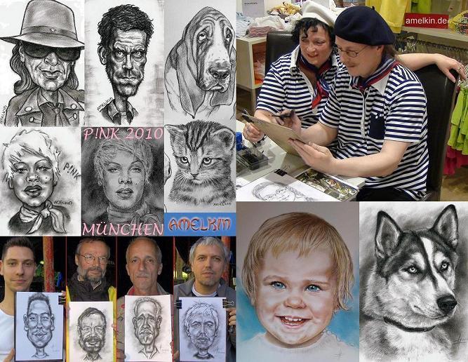 Schnellzeichner, Portraitzeichner und Karikaturzeichner Amelkin, www.amelkin.de